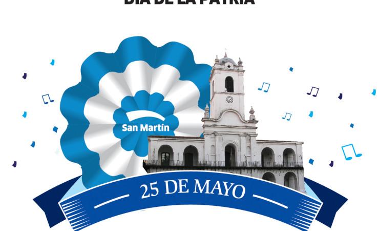 El municipio organiza el festejo por el 25 de mayo en jos for Decoracion 25 de mayo nivel inicial