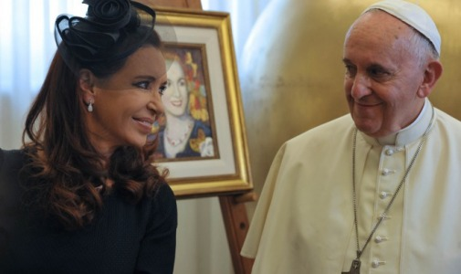 """Cristina dijo que el encuentro con el Papa fue con """"cordialidad y naturalidad"""""""