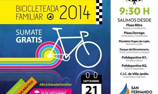 "Sumate a la ""Bicicleteada Familiar 2014″ en San Fernando"