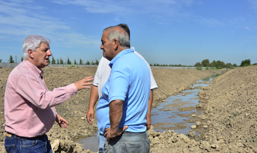 Luis Andreotti visitó el Reservorio de Villa Jardín, próximo a finalizarse