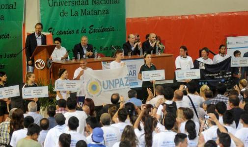 Scioli abrió los juegos universitarios 2014 Malvinas Argentinas