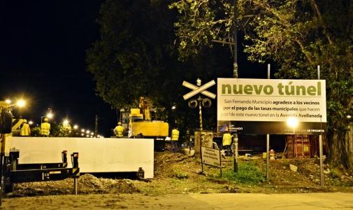 Túnel de Av. Avellaneda: el montaje de los puentes permite iniciar las excavaciones