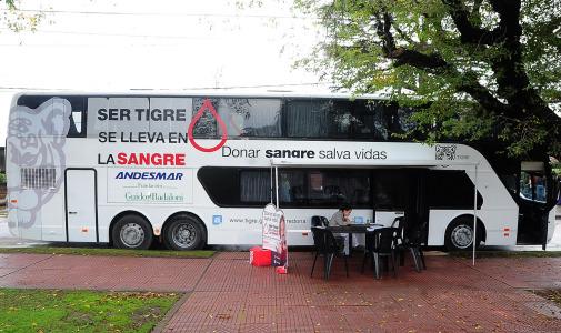 El móvil de donación de sangre estará en la Estación Fluvial