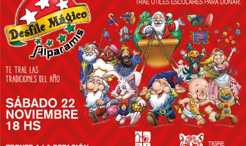 La Navidad comienza en Tigre con un desfile mágico de Alparamis