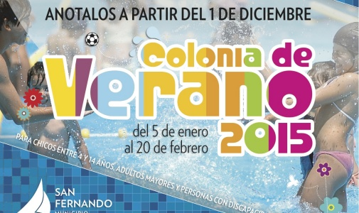 """Comienzan las inscripciones para las """"Colonias de Verano 2015"""", en San Fernando"""
