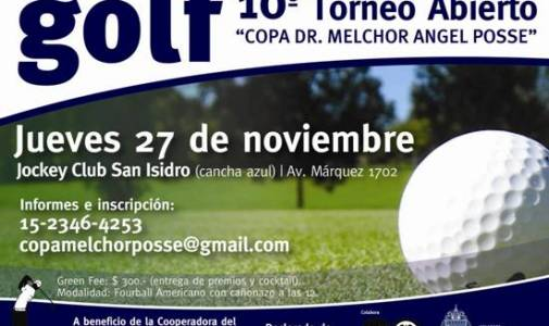 """Está abierta la inscripción para el torneo de golf """"Copa Melchor Ángel Posse"""""""